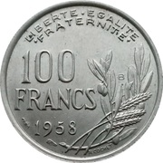 100 francs Cochet -  revers
