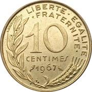 10 centimes Marianne (Cupro-aluminium) -  revers