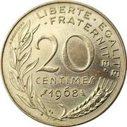 20 centimes Marianne (Cupro-aluminium) -  revers