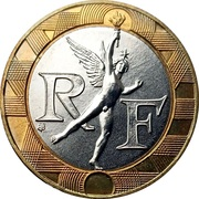 10 francs Génie de la Bastille (tranche striée) -  avers