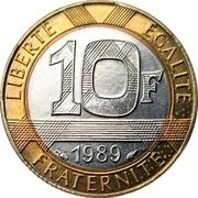 10 francs Génie de la Bastille (tranche striée) -  revers