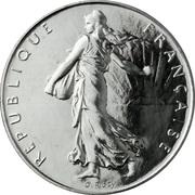 1 franc Semeuse (O.Roty, tranche striée, nickel ) -  avers