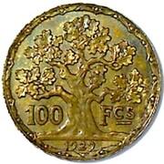 100 francs (Essai en cupro-alu doré de Vernon) – revers