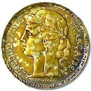 100 francs (Essai en cupro-alu doré de Vernon) – avers