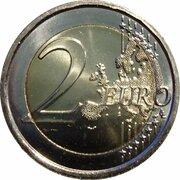 2 euros Ruban rose (non colorée) -  revers