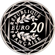 20 euros Jacques Chirac -  avers