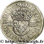 ¼ d'écu - Henri IV - 5e type -  avers