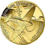 50 euros Spitfire (or) -  revers