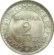 2 francs Chambres de commerce -  revers
