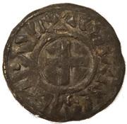 Denier de Charles III le simple – avers