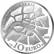 10 euros Les Champs-Elysées -  avers