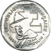 2 francs Jean Moulin -  avers