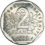 2 francs Jean Moulin -  revers