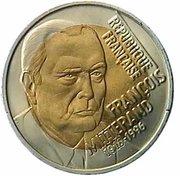 5 euros / écus François Mitterand -  avers
