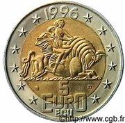 5 euros / écus François Mitterand -  revers