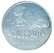 Jeton de lavage - Mouss'Auto - Briançon – avers