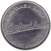 Jeton de lavage automobile - Thalass' Auto (Montaigu) – revers