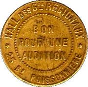 Bon pour une audition - Boulevard Audition - Paris [75] -  revers