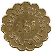 15 Centimes - Grande Taverne - Belfort [90] -  avers