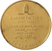 La Médaille Commémorative du Pape Jean-Paul II -  avers