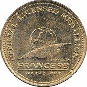 Official Licensed Medallion - France 98 World Cup (France) -  avers