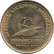 Official Licensed Medallion - France 98 World Cup (Jamaica) -  revers