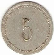 5 Francs M F - Manufacture Française d'Armes et cycles - Saint-Etienne [42] -  avers