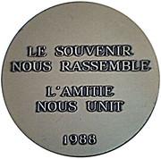 Médaille Amicale des Anciens de la Tour d'Auvergne -  revers