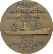 Médaille - Union Industrielle et Maritime -  revers