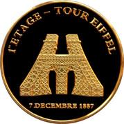 Jeton touristique - Souvenirs et Patrimoine - Tour Eiffel Exposition -  avers