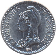 1 franc République (Nickel) -  avers