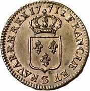 1 sol Louis XV (à la vieille tête) -  avers