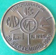 médaille d'inauguration – avers