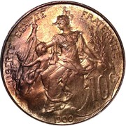 10 centimes Daniel-Dupuis -  revers