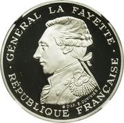 100 francs La Fayette (platine) -  avers