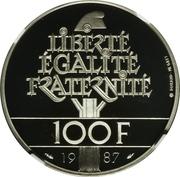 100 francs La Fayette (platine) -  revers