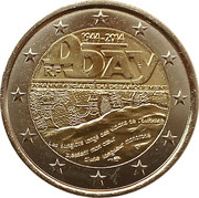 2 euros D-Day -  avers