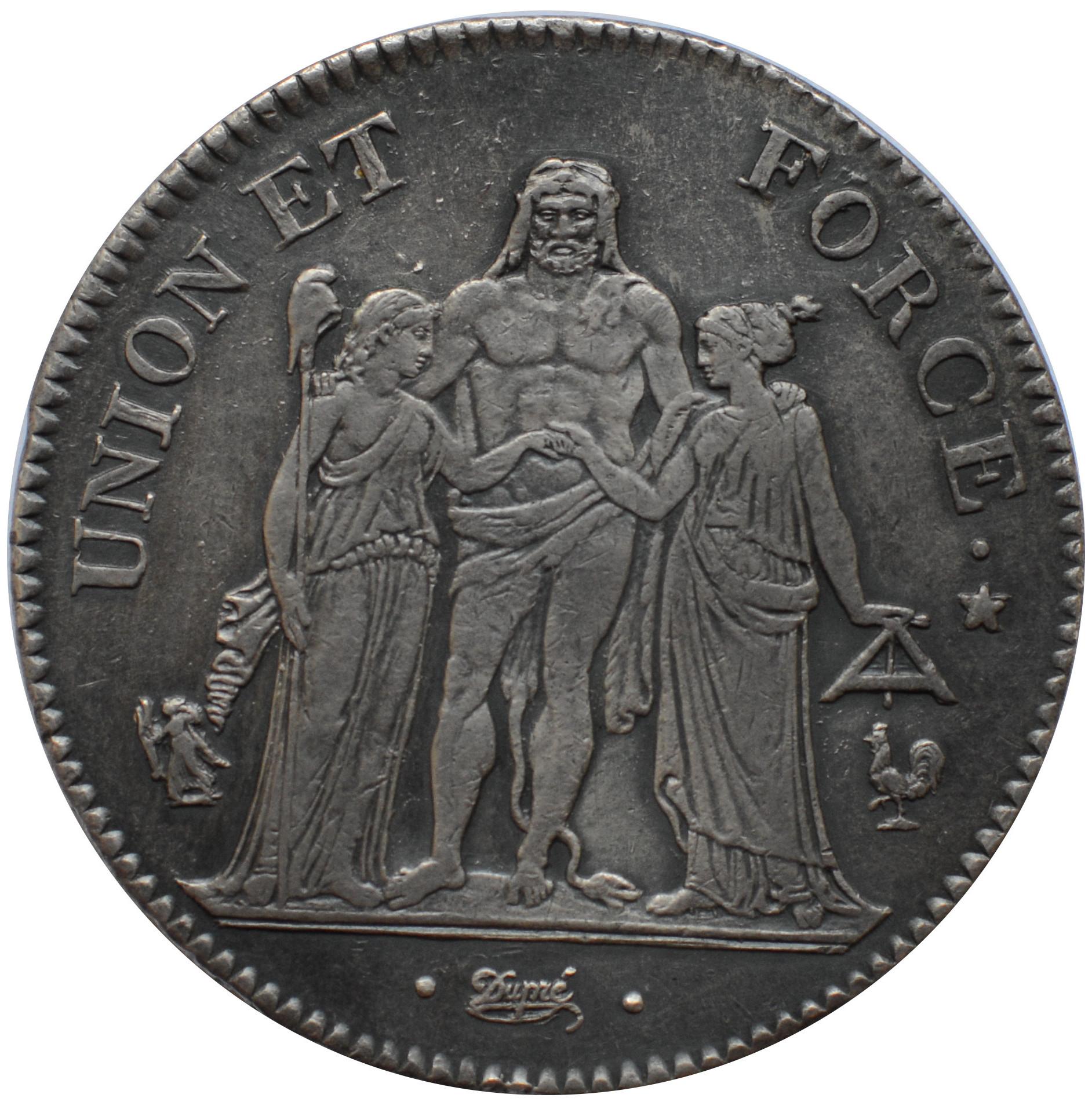 5 francs union et force