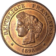 5 centimes Cérès -  avers