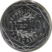 10 euros Égalité (Astérix aux Jeux Olympiques) -  avers