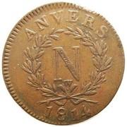 10 centimes Napoléon (Siège d'anvers) – avers