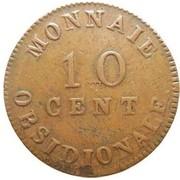 10 centimes Napoléon (Siège d'anvers) – revers