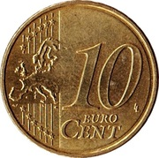 10 cents d'euro (2e carte) -  revers