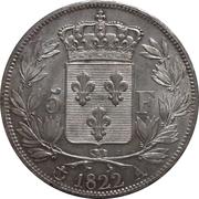 5 francs Louis XVIII (buste nu) -  revers