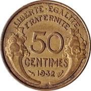 50 centimes Morlon (Cupro-aluminium) -  revers