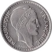 10 francs Turin (Cupronickel, petite tête) -  avers