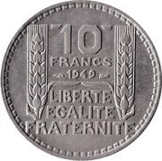 10 francs Turin (Cupronickel, petite tête) -  revers