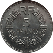 5 francs Lavrillier (Nickel) -  revers