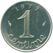 1 centime Épi (Piéfort en argent) – revers
