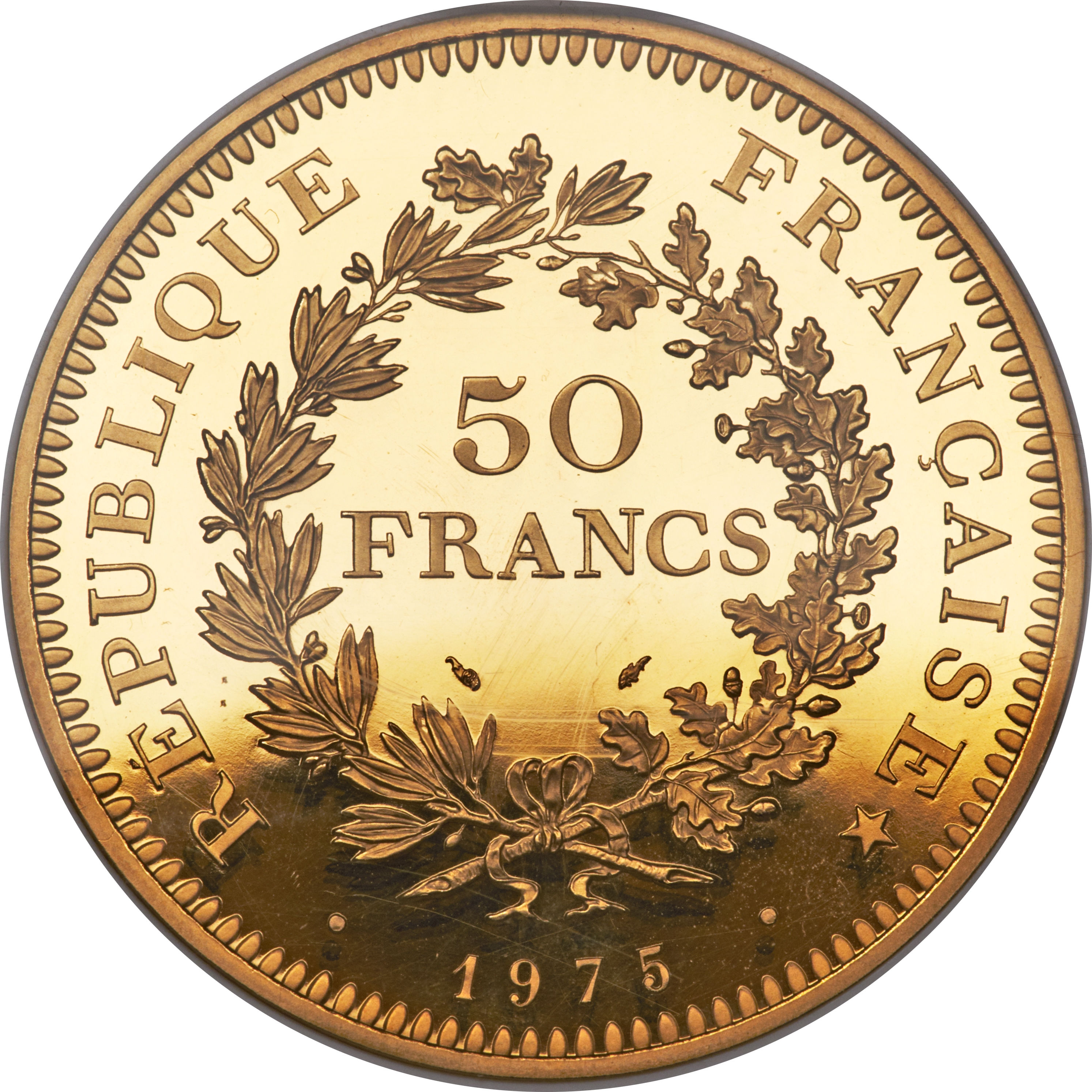 50 Francs Hercule Or Piefort France Numista